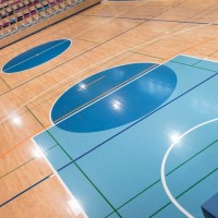 Нанесение разметки для баскетбольных площадок