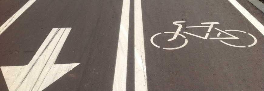 разметка велосипедных дорожек фото